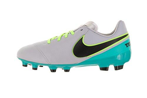 Nike Jr Tiempo Legend Vi Fg, Chaussures de Football Garçon Gris (Wolf Grey / Black-Clear Jade)