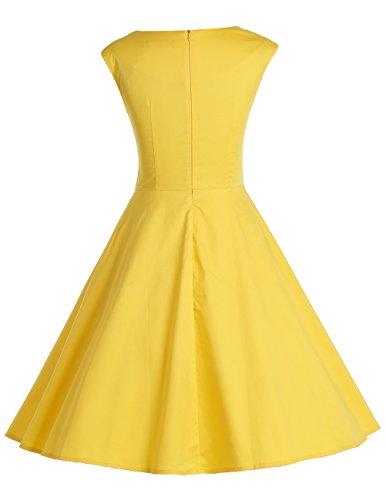 Dresstells Vintage 1950's Audrey Hepburn robe de soirée cocktail, bal style années 50, Rockabilly, Swing Bleu