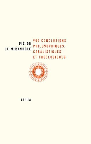 900 conclusions philosophiques, cabalistiques et théologiques