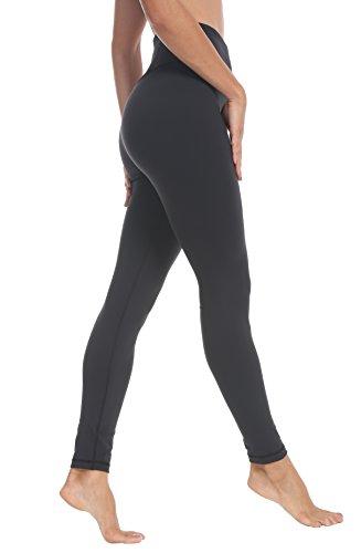 QUEENIEKE Damen Yoga Leggings Hosen Trainings Laufende Pfirsich Hüfte Farbe Schwarz Größe -