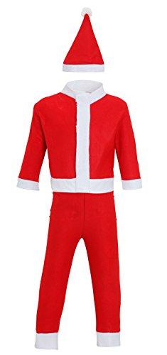 Kleinkinder Kinder Weihnachten Sankt-Klage - Alter bis zu 4 Jahren - Red/White (Snowboarder Kostüm)