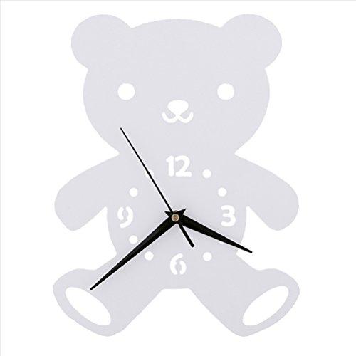 Ours Horloge murale Chambre d'enfant Chambre Horloge silencieuse Belle famille Décoration Boutique
