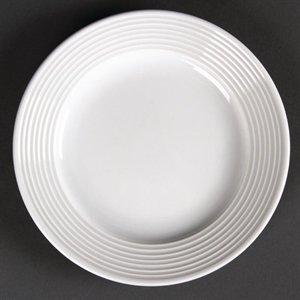 Olympia linéaire Large cerclé Assiettes 150 mm 150 mm/15,2 cm (Ø). Blanc. Quantité : 12.
