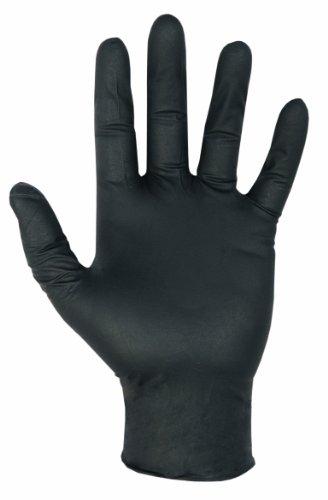 CLC Black Nitrile Disposable Glove - Box Of 100 - Large