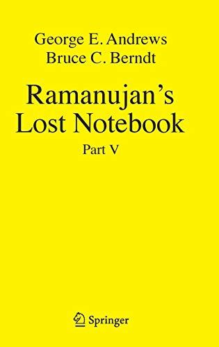 Ramanujan's Lost Notebook: Part V por George E. Andrews