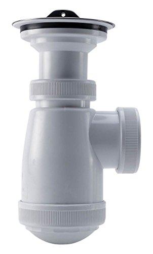 Adequa B-2R-A Sifón Sencillo Botella Recto con Válvula Extensible