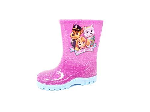 Nickelodeon Licensed Paw Patrol Childrens Kids Wellington Boots Rain Wellies Girls Mid Calf Snow Boots Pink