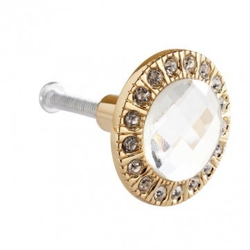 High Quality 3cm Round Drawer Wardrobe Door Handle - Gold