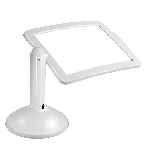 YUXX LED Lupen 3X Tischlupe mit Licht A4 Leselupen für Senioren Groß Rechteckiges Standlupe mit Klappständer Lesehilfen zum Lesen Büchern, Magazinen, Zeitungen, Landkarten