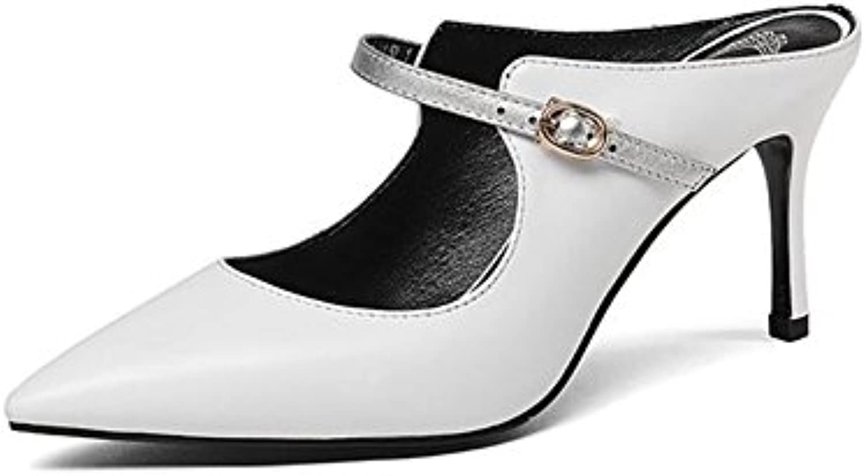 YE sandali Coloreeblock Sandals High Heels Ms Summer The Coloreeblock Coloreeblock Coloreeblock 8.5CM (Bianco Nero) | Queensland  | Scolaro/Ragazze Scarpa  38669f