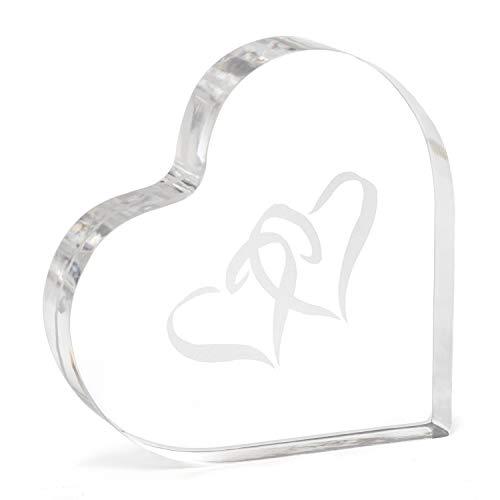 Hortense B. Hewitt Hochzeits-Zubehör Acryl am Herz gebunden 10,2 cm