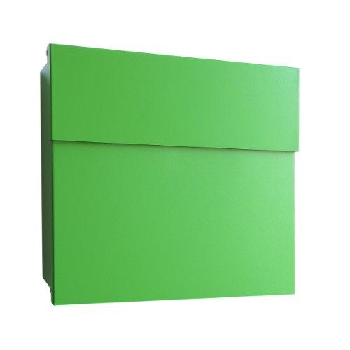 Designerbriefkasten in starkem Grün
