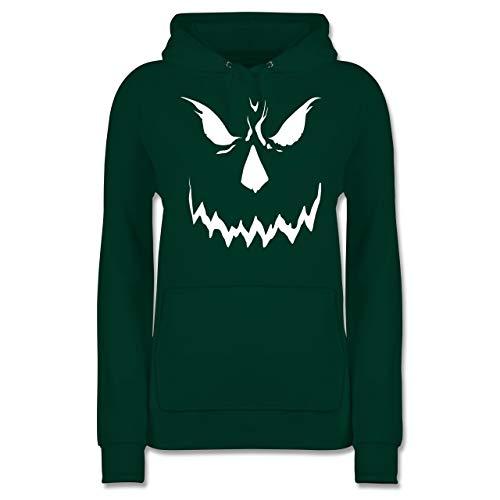 Shirtracer Halloween - Scary Smile Halloween Kostüm - XS - Dunkelgrün - JH001F - Damen Hoodie (Ideen Halloween-kostüm Scary Baby)