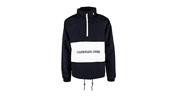 Calvin Klein Jeans Institutional Logo Pop Over Giacca a vento nero