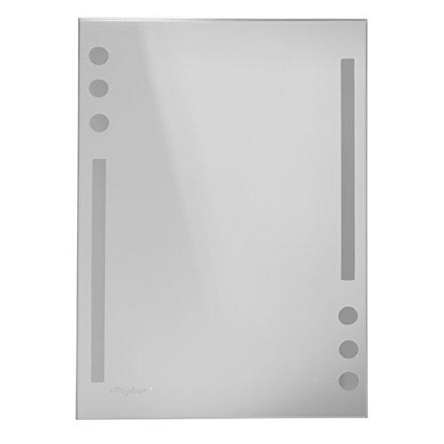 Wandspiegel / Badspiegel / Garderobenspiegel - mit satinierten Elementen - ca. 60 x 40 cm