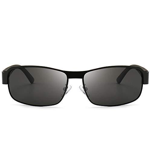 LEIAZ Farbwechselnde Sonnenbrille Nachtsichtbrillen Retro Kleine Quadratische Sonnenbrille Anti-Uv Tag-Und Nacht Lebhafte Persönlichkeit,Black