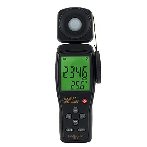 Lichtmesser Lichtmessgeräte Digital Luxmeter Handumgebungstemperatur Vermesser Mit Reichweite Bis Zu 100.000 Lux Luxmeter Mit 4 Digit LCD-Bildschirm
