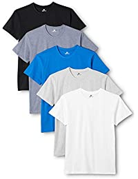 Lower East Herren T-Shirt mit Rundhalsausschnitt, 5er Pack