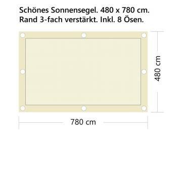 StoffHandwerker Sonnensegel - Fix+Fertig - 500 x 800cm - Rechteck