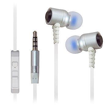 Ultra haute Clarté en métal très résistant Isolation phonique écouteurs stéréo 3,5mm/Casque/écouteurs pour ZTE Axon Elite/Warp Elite/obsidienne Lame/V6/AXON Lux/Max +/AXON Pro/Lame D6/AXON/Maven (Sonde spatiale)/SONATE 2/Ouverture 2/Fanfare/Nubie Z9(Blanc)–avec microphone et contrôle du volume + Sac de transport
