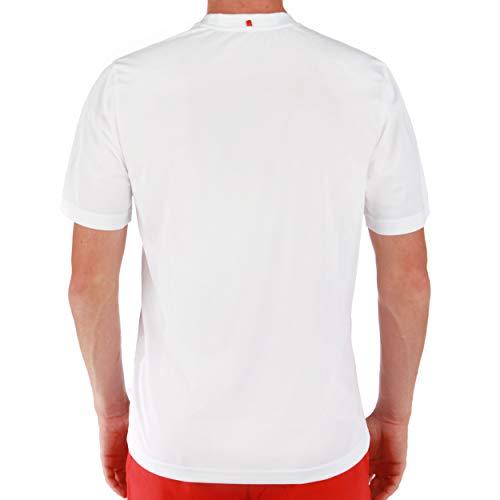 Fila Herren Tennisshirt Logo Kurzarm Weiss (100) M -