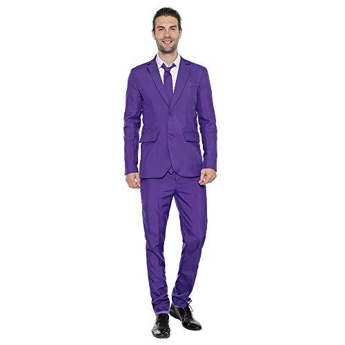 EraSpooky Herren Anzug Party Modisch Normaler Schnitt Festliche Anzüge Party Suits Einfarbig