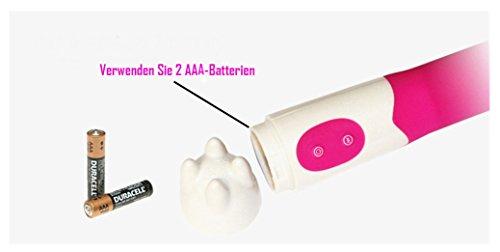 Sex Vibratoren für Frauen Silikon, Multi-Speed-wasserdicht (Blau, Rosa zufällig) - 5