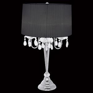 Captivating Beaumont Crystal Droplet Pendant Chandelier Table Lamp / Table Lamp With  Fancy Lights