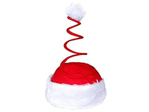 Christmas Hat Spiral red with plush edge 17