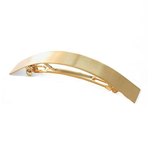 einfache Metall Haarspange/ horizontale Clip/ Clip/Wilde Pferdeschwanz Feder-Clip-golden (Einfach Pin Up Haar)