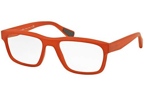 Prada PS07GV Brillen 53-18-140 Orange Mit Demonstrationsgläsern UFN1O1 VPS07G VPS 07G PS 07GV