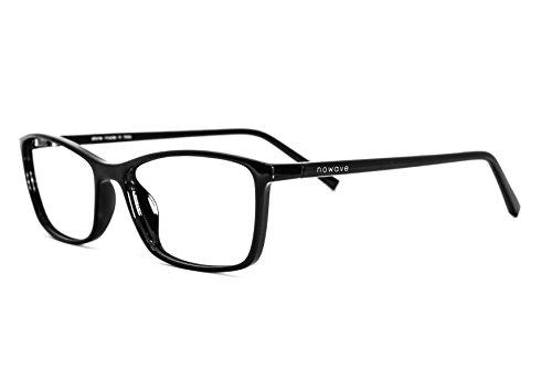NOWAVE Neutralbrille für PC, Tablet, Smartphone, TV und Gaming. Beseitigt Ermüdung und Reizung der Augen. Ultra-leichtes Gestell. Accessoire für Büro und Schule/ Studium. Entspannende Brille mit 40% Schutz vor blauem Licht und 100%-igem UV-Schutz. PC-Bildschirm-Filter. ITALIAN STYLE 2017 (Ophthalmische Linsen)