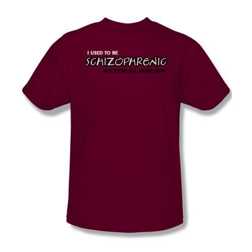 Schizophrenic-Maglietta da uomo, colore: rosso cardinale Cardinale