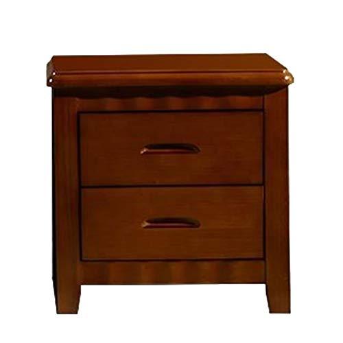 Huahua Furniture Nachttisch, Haushalts-Festholz-modernes chinesisches Eichen-Nachttisch-Speicher-Kabinett Einfach und schließen Sie Zwei Fach-Kabinett ab (Color : B, Size : 40X40X50cm) -