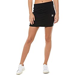 adidas 3Stripes Skirt Falda de Tenis, Mujer, Negro (Negro), 38