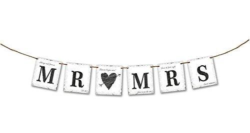 Mr. & Mrs. Banner 77 cm im vintage look (Banner Große Hochzeit)