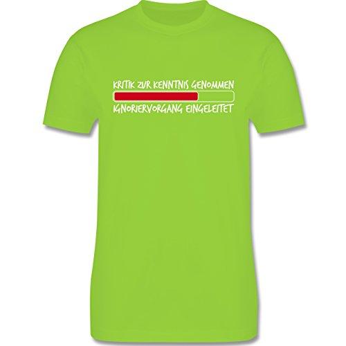 Sprüche - Kritik zur Kenntnis genommen - Herren Premium T-Shirt Hellgrün