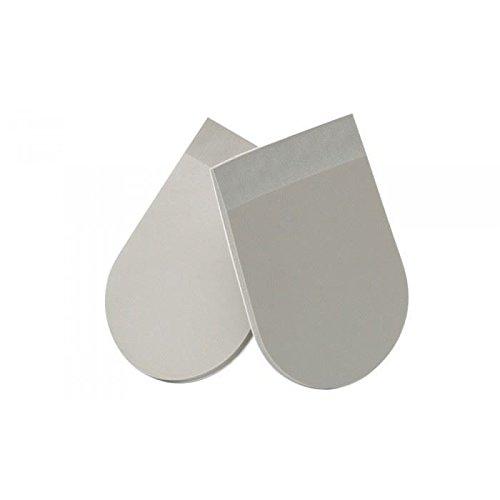 PORON grau 4000Fersenpolster x2| Stoßabsorbierende Performance | selbstklebend