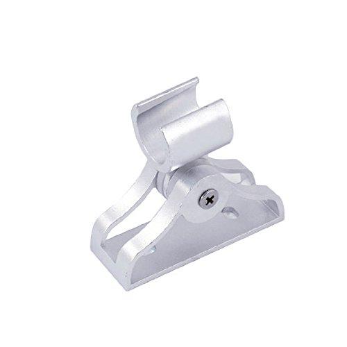 thanly supporto doccia regolabile, 19mm Diametro piatto in alluminio adesivo Staffa Morsetto regolabile testa bagno doccia a parete supporto SUPPORTO - Alluminio Horse Head