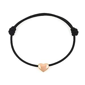 Dezentes KOMIMAR Herzchen Armband HEART OF STEEL - rosé - Edelstahl - Weihnachtsgeschenk - Geschenkidee - Herz - Herzchen Armband - Frauen Armband - Kinder Armband - Damen Armband