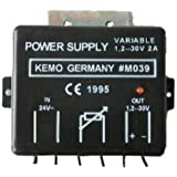 KEMO Netzgerät ca. 1,2 - 30 V/DC, max. 2 A, M039