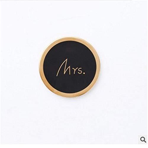 ZCHPDD Sous-Verres Décoratifs De Table En Céramique Coaster De Verre Black 02 10 * 10 * 0.9Cm*2Pcs (Tasse-kaffee-topf 10 Braun)