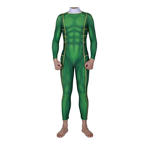 ng Außergewöhnliche Team Cosplay Kostüm Lycra Siamese Strumpfhosen 3D Digitaldruck Enge Weihnachten Halloween Kostüm Für Erwachsene Tragen Green-L ()