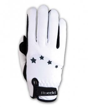Roeckl Sports Teenies Handschuh Toronto, Reithandschuh Jugendliche, Weiß, 6,5
