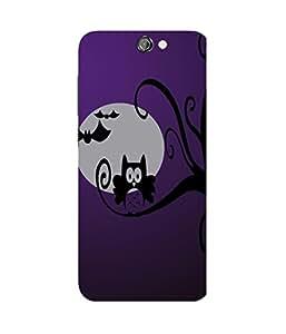 Spooky Owl Purple HTC One A9 Case