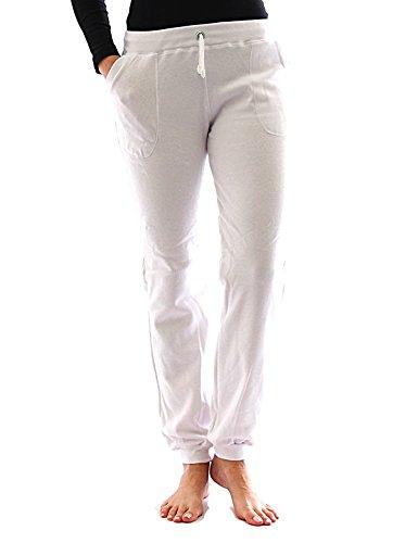 Pantaloni tuta interno in pile borse sport leggings cotone yoga relax termo - cotone, bianco, 5% elastam 95% cotone 5% spandex 5% spandex\n\t\t\t\t, donna, xl