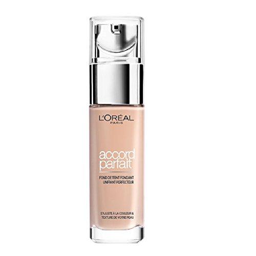 L'Oréal Paris Make Up Designer - Accord Parfait Fond de Teint Fluide Unifiant Ivoire Rosé (1.R) 30ml