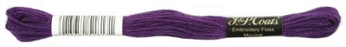 Manteaux Crochet 6-Strand Fil à Broder, Violet foncé, 24-Pack