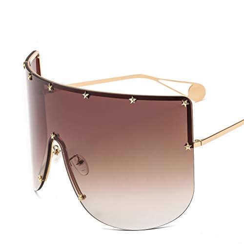 WZYMNTYJ Sonnenbrille Steampunk Männer Frauen Sonnenbrille Anti UV Brille Brillen Platz Oversize Unisex Driving Fashion