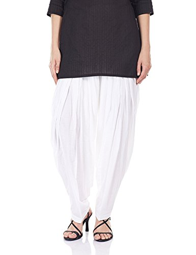 I Shop Women\'s Kurta, 40(PATIALA-SALWAR-01234, White)